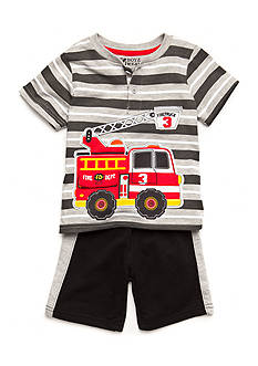 Nannette 2-Piece Firetruck Short Set Toddler Boys