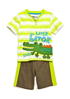 Nannette 2-Piece Later Gator Short Set Toddler Boys