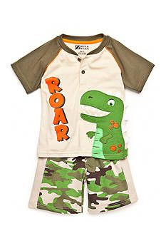 Nannette 2-Piece Dino Short Set Toddler Boys