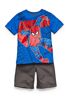 Marvel™ Spiderman Printed Tee and Shorts Set Toddler Boys