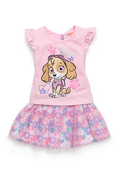 Nickelodeon™ 2-Piece Paw Patrol 'Skye' Printed Top and Floral Scooter Set Toddler Girls