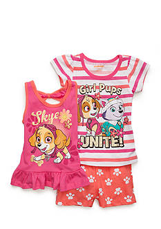 Nannette Paw Patrol 3-Piece Top And Shorts Set Toddler Girls