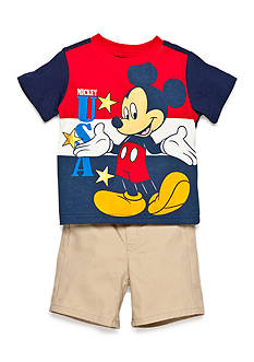 Disney® Red Mickey 2 Piece Short Set