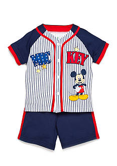 Disney® Mickey Baseball Jersey 2-Piece Short Set