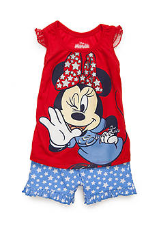 Nannette Minnie® 2-Piece Top And Shorts Set Toddler Girls