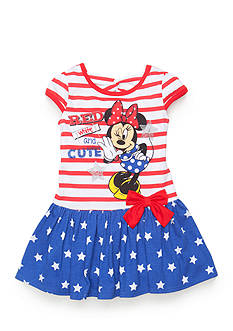 Disney® 'Red White and Cute' Minnie Mouse Dress Toddler Girls