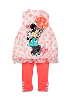 Disney® 2-Piece Minnie Mouse Dot Tunic and Capri Set Toddler Girls