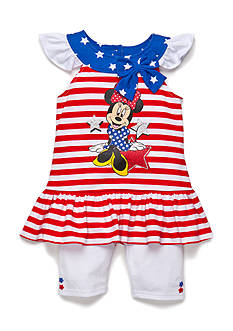 Disney® 2-Piece Minnie Mouse Americana Tunic and Biker Short Set Toddler Girls
