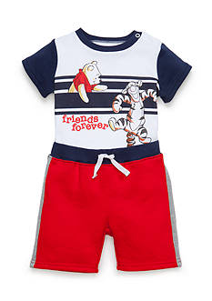 Disney® 2-Piece Pooh-and-Friend Bodysuit and Short Set