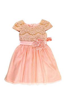 Nannette Glitter Mesh Dress Toddler Girls