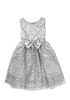 Nannette Metallic Lace Dress Toddler Girls