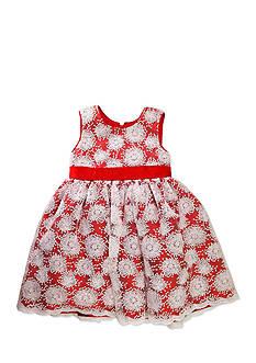 Nannette Embroidered Mesh Underlay Dress Toddler Girls