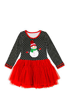 Nannette Snowman Tutu Dress Toddler Girls