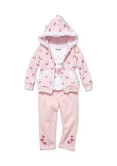 Nannette Glitter Heart 3-Piece Set Toddler Girls