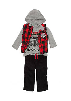 Nannette 3-Piece Little Racer Vest, Shirt, and Corduroy Pant Set