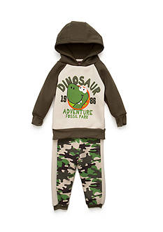 Nannette 2-Piece Dinosaur Hoodie and Pant Set