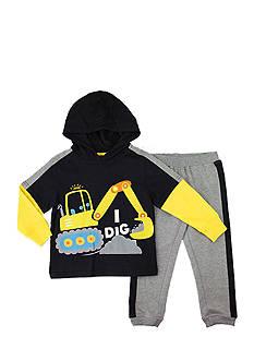 Nannette Toddler Boy Dig Hoodie Set
