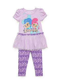 Nickelodeon™ 2-Piece Shimmer and Shine Tunic and Printed Legging Set Toddler Girls