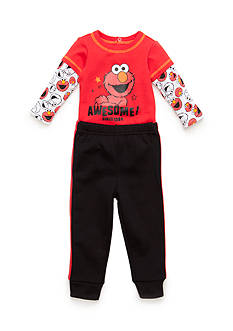 Nannette 2-Piece Elmo Shirt and Pant Set