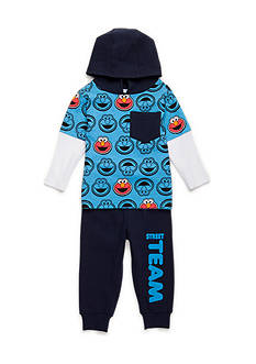 Nannette 2-Piece Elmo Hoodie and Jogger Pants Set