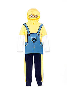 Nannette 2-Piece Minions Hooded Top and Pant Set Toddler Boys