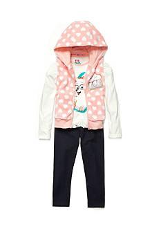 Nannette The Secret Life of Pets Vest, Long Sleeve Shirt and Pant Set Toddler Girls