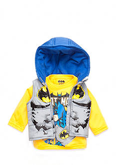 Nannette 2-Piece Batman Shirt and Puffer Vest Set