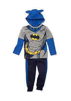 Nannette 2-Piece Batman Mask Fleece Set