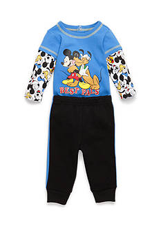 Disney® 2-Piece Mickey Creeper and Jogger Pants Set