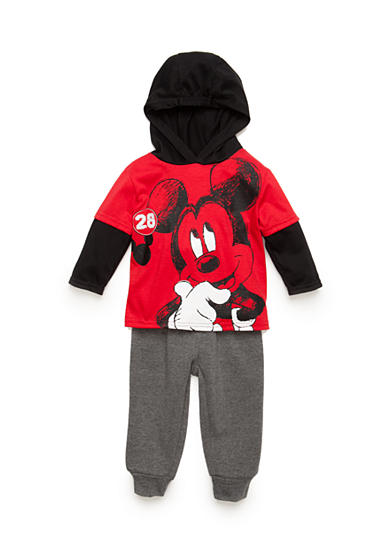 Disney 2-Piece Mickey Mouse Hooded Tee and Jogger Set