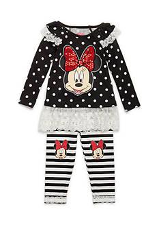Nannette 2-Piece Minnie Mouse Polka Dot Legging Set Baby/Infant Girl