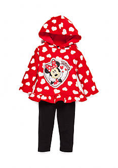 Disney 2-Piece Minnie Mouse Hooded Top and Leggings Set