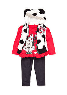 Disney Infant Girl Three Piece Minnie Vest Set