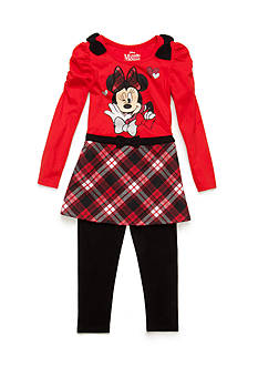 Disney 2-Piece Minnie Mouse Plaid Tunic and Legging Set Toddler Girls