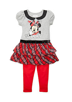 Disney Minnie Mouse Plaid 2-Piece Set Toddler Girls