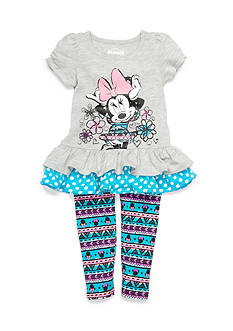 Disney 2-Piece Minnie Flower Leggings Set Toddler Girls