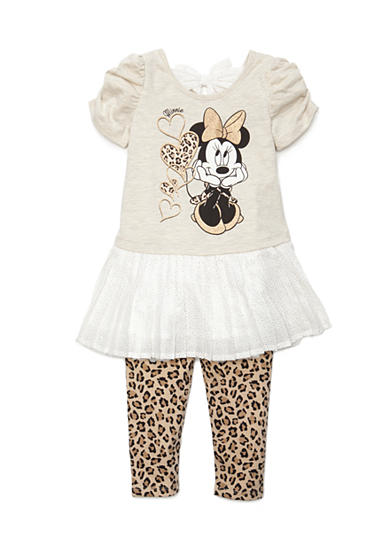 Disney® 2-Piece Minnie Mouse® Character Tunic and Legging Set Toddler Girls