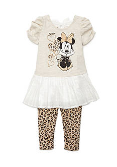 Disney 2-Piece Minnie Mouse® Character Tunic and Legging Set Toddler Girls