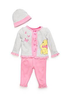 Nannette 4-Piece Winnie the Pooh Cardigan Set