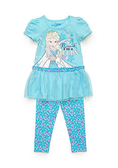 Disney 2-Piece Frozen Tunic and Printed Legging Set Toddler Girls