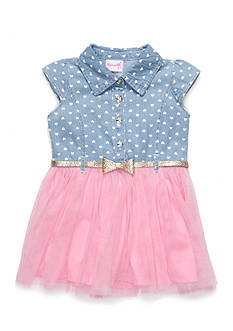 Nannette Chambray to Tulle Dress Toddler Girls
