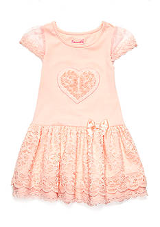 Nannette Lace Heart Dress Toddler Girls