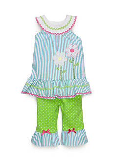 Nannette 2-Piece Daisy Top and Legging Set