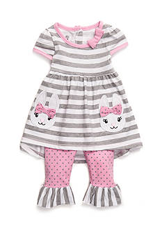 Nannette 2-Piece Bunny Dress and Leggings Set