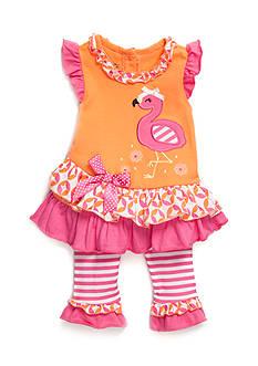 Nannette 2-Piece Flamingo Top and Leggings Set