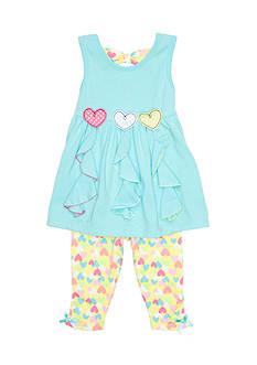 Nannette 2-Piece Heart Capri Set