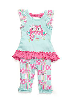 Nannette 2-Piece Owl Tee and Leggings Set