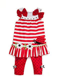 Nannette 2-Piece Lady Bug Top and Capri Pants Set