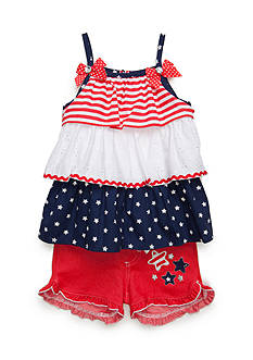 Nannette 2-Piece Ruffle Stars and Stripes Set Toddler Girl