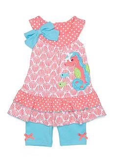 Nannette 2-Piece Seahorse Top and Short Set